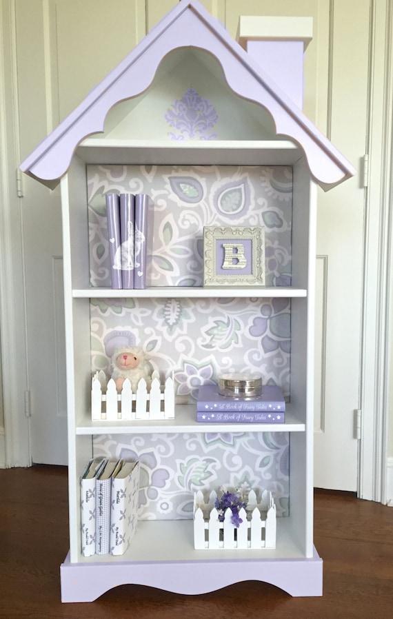 Childrens doll house bookcase, Custom childrens dollhouse bookcase ...