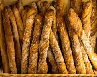 Boulangerie in Paris, France Food Fine Art Photography Print Free Shipping In U.S.A.