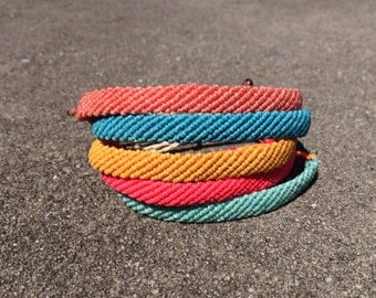 Flat Knotted Cord Bracelet- Water Resistant
