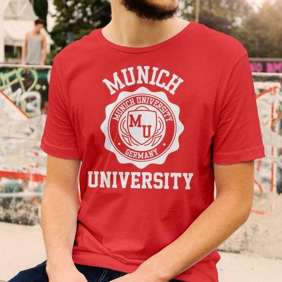 Munich University Logo T Shirt All Colours And Sizes