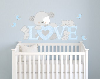 Wall decals kids Wall stickers Baby Nursery Room Decor Dog's Love
