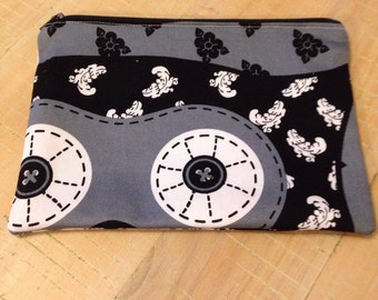 Zippered pencil case - fully lined