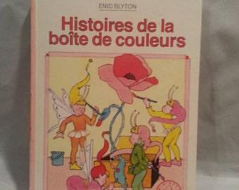 Histoires de la boite de couleurs (1982)   livre en francais  book in french hard cover
