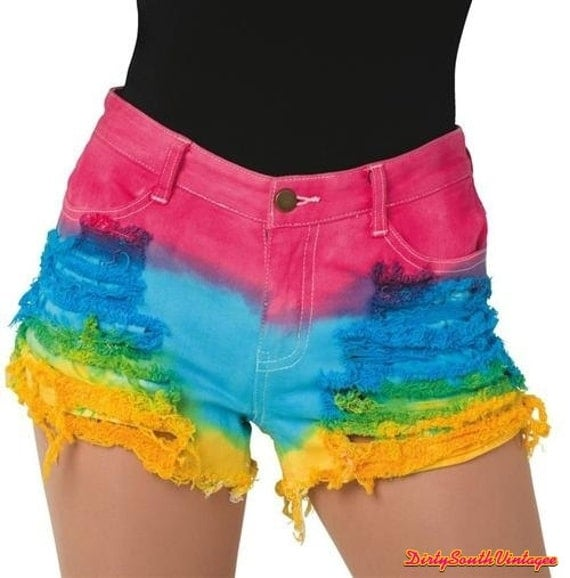 high waisted shorts sassy tie dye all by