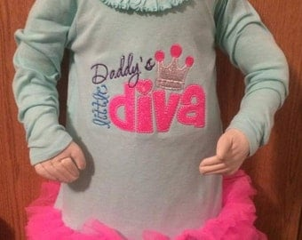 Daddy's lil Diva Ruffle Dress