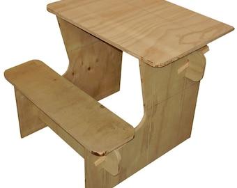 Plans for a plywood kids desk - PDF downloadable file