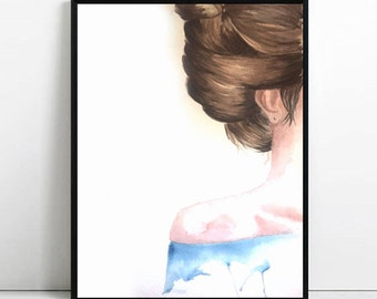 Girl Watercolor