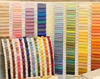 Linen fabric samples, Fabric Swatch - Two colors