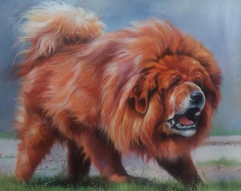 Custom pet oil portrait-Original hand painted oil portrait from your photos-Dog oil portrait on canvas