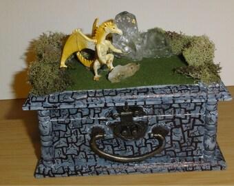 Yellow Dragon Keepsake Box