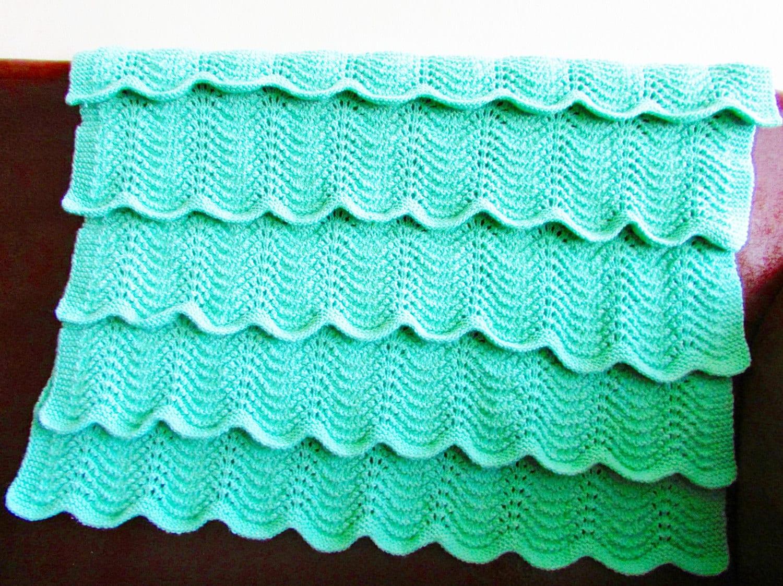 Baby Blanket Knitting Pattern Circular Needles : Baby Blanket KNITTING PATTERN PDF Flouncy by ...