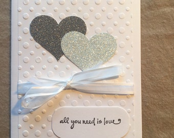 All You Need Is Love Wedding Card