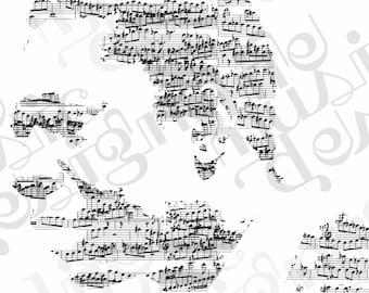 John Coltrane Music Print