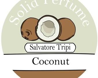 COCONUT Handmade Solid Perfume 10g by Salvatore Tripi - Italian Recipe