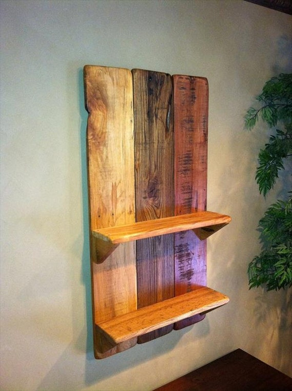 Items similar to Pallet shelf,shelves,wall shelves,rustic ...