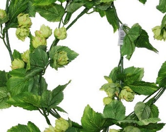 Artificial Hops Vine, Fake Hops Garland, Great for Displays and Decoration