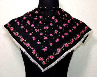 Vintage gipsy wool scarf,