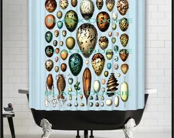 Easter Eggs Shower Curtain - blue green eggs shower curtain