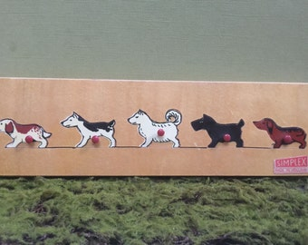 DOGS wooden puzzle, from Simplex. Rare 1940s