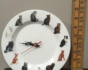 Quirky cat clock.