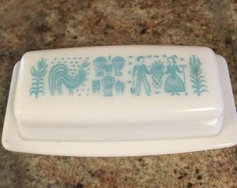 Vintage Pyrex Amish Butterprint Butter Dish