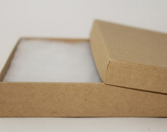 5-20 Large Jewelry Boxes with inner cotton lining- Natural Kraft