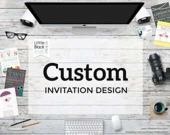 Custom Invitation Design - Personalised Digital File