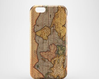 Ancient World Map Phone case,  iPhone X Case, iPhone 8 case,  iPhone 6s,  iPhone 7 Plus, IPhone SE, Galaxy S8 case, Phone cover, SS101a