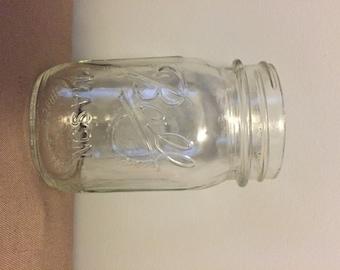 Four (4) Pint size Mason Jar (Various Brands) - Great for Crafts, Weddings, Parties, etc.
