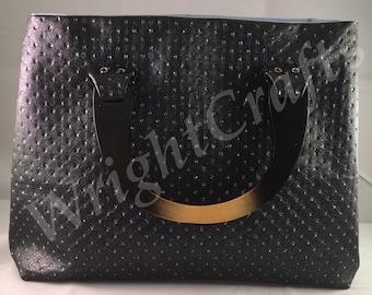 Leatherette handbag