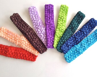 "Crochet Headbands 1"", 1.5 "", 2.75"" Pick your color"