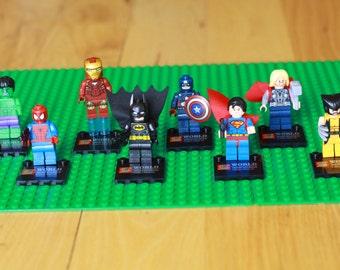 SUPERHERO LEGO® Figurines, Set of 8!!