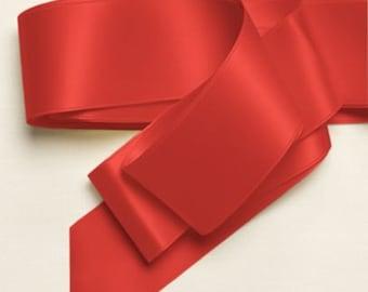 """New Single Faced Guava Satin Ribbon 7/8"""", or 5/8"""", Dark Coral Satin Ribbon"""