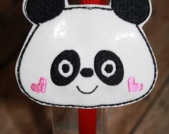 Panda Headband Slider Embroidery Machine Design for the 4x4 hoop