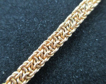 Copper Chainmaille Bracelet Vipera Berus Tightly Woven Pattern, Chainmail Bracelet, Chain Jewelry