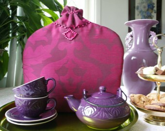 Purple Baroque/Boho Chic Tea Cosy