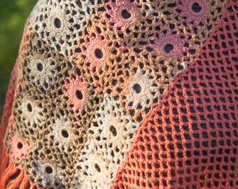 Crochet Poncho. Stylish Hand Knit Poncho. Knitted Poncho for Women.