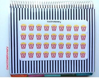 Popcorn Sticker Sheet