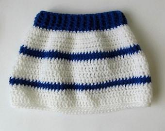 baby girl skirt, newborn girl skirt, crochet baby skirt, crochet newborn skirt, infant skirt, baby nautical outfit, baby sailor