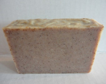 TEA TREE OIL Soap / Acne Cold Process Soap infused with rosemary /  Exfoliating Soap with crushed grapeseed And Aloe Vera Gel