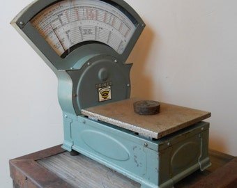Postage Scale - TRINER Scale & MFG. CO. Platform Postage Scale Model 805, Vintage 1971, Working!