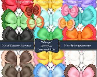 Butterfly Clipart, Digital  Scrapbooking Butterflies Collection CU4CU