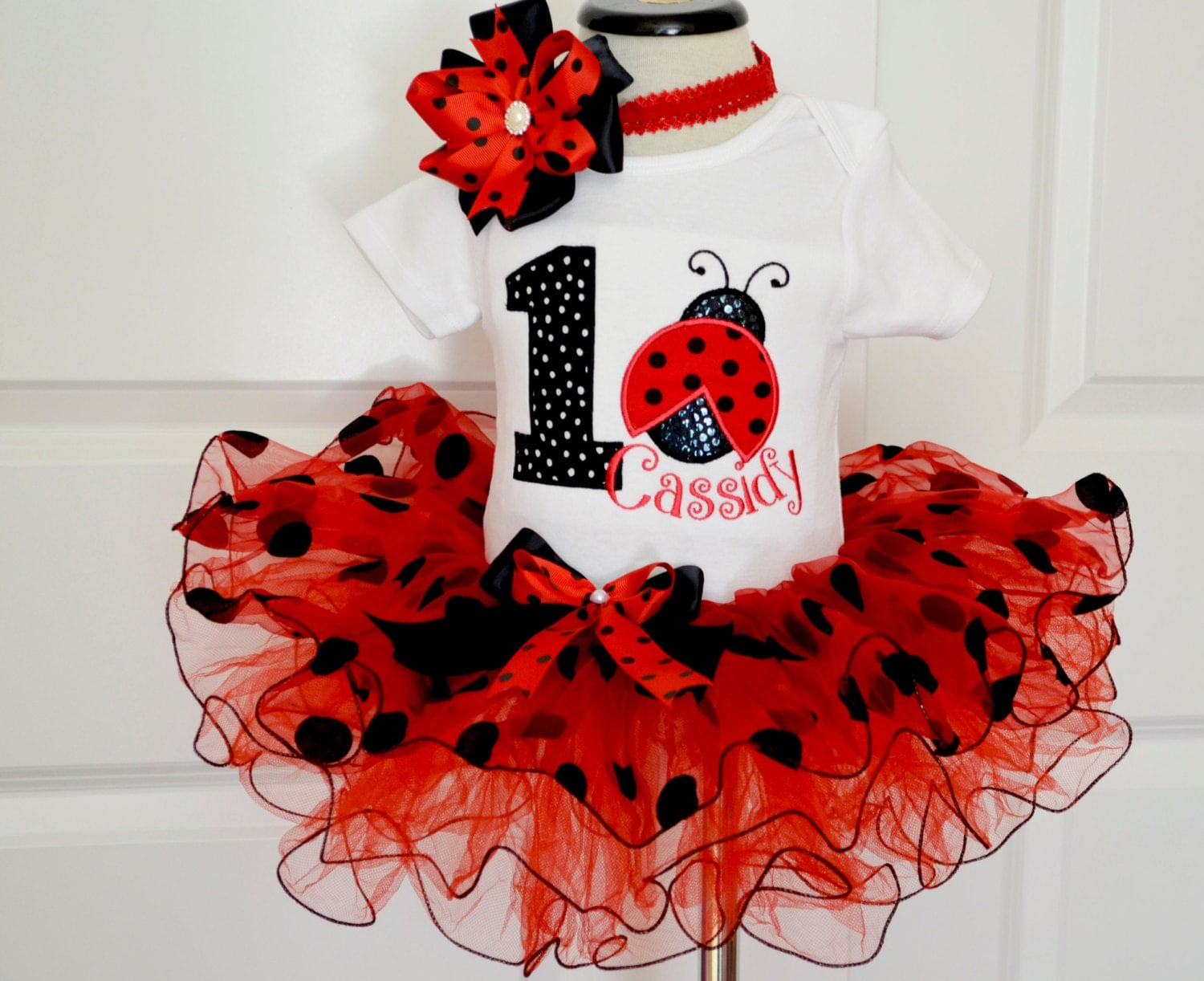 foto de first Birthday Outfit girlLadybug First Birthday OutfitGirls