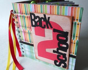 BACK 2 SCHOOL premade scrapbook