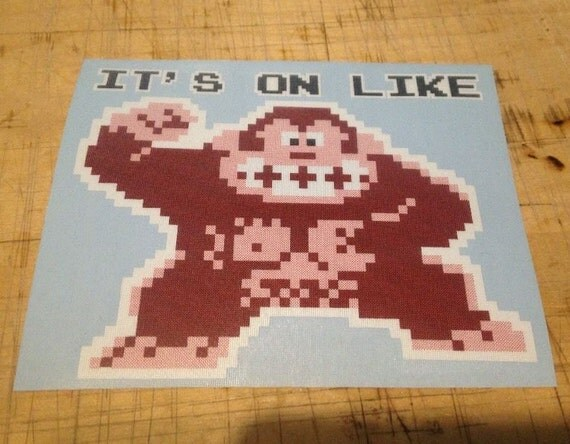 Its on like donkey kong decal 8bit gaming video games old school