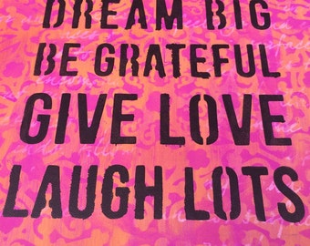 Inspirational canvas, inspirational art, live laugh love,wall decor with phrase, inspirational painting, inspirational home decor, FREE SHIP