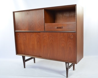 Danish Modern Drop-Front Media Console