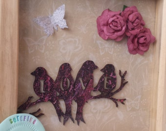 medium love birds frame