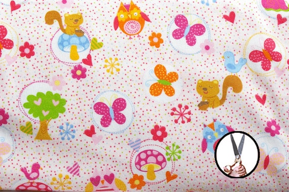 Printed flannel fabrics by the yard 45 39 39 mushroom tree for Children s clothing fabric by the yard