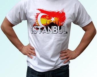 Istanbul - new white t shirt Turkey flag print design 100% cotton - Mens, womens, kids & baby clothing - all sizes!